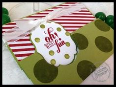 October 21, 2013 FLASH CARD 2.0 – Label Thinlit Christmas Card – Video No. 50  by Connie Stewart