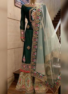 Searching for punjabi suits boutique including products like designs for punjabi salwar kameez suits See the website simply press the grey link for further info :- Pakistani Outfits, Indian Outfits, Eid Outfits, Indian Attire, Indian Wear, Red Lehenga, Lehenga Choli, Bridal Lehenga, Saris