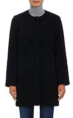 Barneys New York Lamb Shearling Cocoon Coat - Coats - 504727333