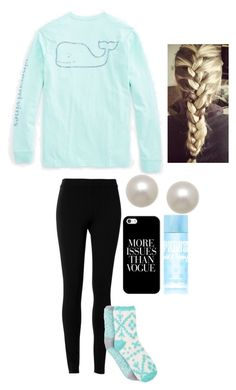 """""""Too Blue?"""" by hailstails ❤ liked on Polyvore featuring Vineyard Vines, Max Studio, Free Press, Honora and Casetify"""