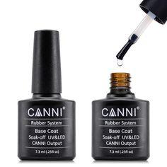 CANNI New Professional Nail Art water base Varnish 7.3 ml Good Quality No Need Lamp long lasting gel Nail Base polish gel primer