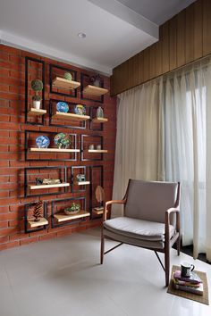 Lounge inspirations and styles represent regarding the look and stylishness. Brick Interior, Living Room Interior, Living Room Decor, Interior Design, Dining Room, Bungalow Interiors, Office Interiors, Room Partition Designs, Indian Home Decor