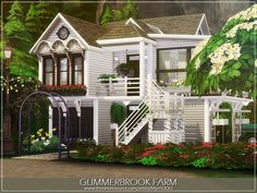 The Sims 4 najlepsze mody do gry: Glimmerbrook Farm od MychQQQ Sims 4 House Plans, Sims 4 House Building, Pool Gazebo, The Sims 4 Lots, Sims Four, The Sims 4 Download, Sims 4 Build, Sims 4 Houses, Sims Resource