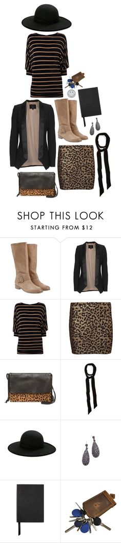 """""""Phase eight - stripes and leopard print"""" by perpetto ❤ liked on Polyvore featuring Mint Velvet, SLY 010, Phase Eight, Vero Moda, Halogen, Betmar, Smythson and Anya Hindmarch"""