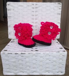 Baby girl boots, baby booties, baby shoes, baby boots, newborn shoes, winter boots