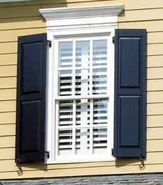 Double folding shutters folded position another shortcut for Recessed panel shutters