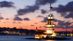 Alacakaranlık Vakti Kız Kulesi #wallpaper #istanbul #deniz #kızkulesi