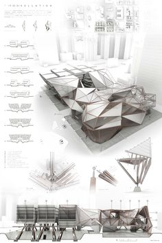 Truss tessellation on behance grad presentation board design, architecture desi Interior Architecture Drawing, Architecture Design, Architecture Panel, Architecture Graphics, Concept Architecture, Classical Architecture, Minecraft Architecture, Minimalist Architecture, Presentation Board Design