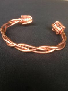 Code: WB11 Hand Wrapped Copper Bracelet, The bracelet is malleable to fit your wrist, Copper is known for its healing properties, This bracelet can help relieve arthritis & inflammation. Stylish & Practical.