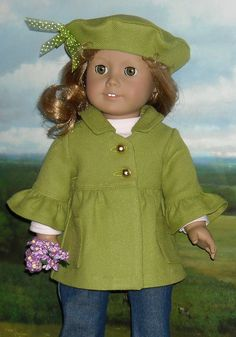 lime green coat with bell sleeves by Sugarloaf Doll Clothes, via Flickr