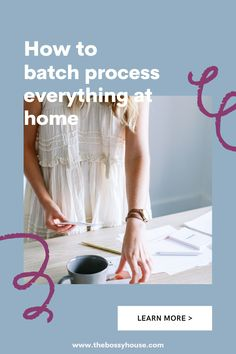 Find out how to batch process at home and reduce your stress as a mom. This FREE on-demand workshop will help you get and stay organized! Visit www.thebossyhouse.com for more ideas for getting and staying organized. Staying Organized, Everything, You Got This, Workshop, How To Get, Organization, Mom, Learning, Organisation
