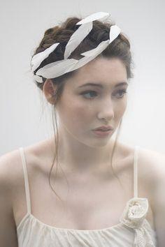 Gorgeous feather headpiece; Maggie Mowbray Millinery; #wedding #bridal #headpiece