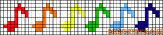 musique - music - note pour frise - point de croix - cross stitch - Blog : http://broderiemimie44.canalblog.com/