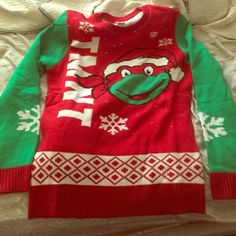 Tmnt sweater, Perfect for ugly sweater party Perfect condition!!! Worn once!!! Junk Food Sweaters Crew & Scoop Necks