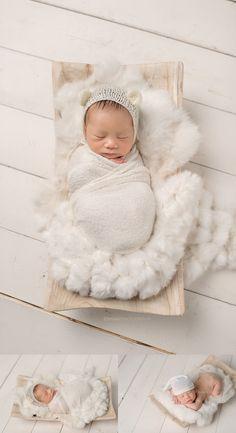 renton-newborn-photographer-baby-on-top-of-furry-white-rug