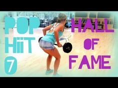 Hall of Fame | POP HIIT 7 - looks painful, I want to try! Hopscotch burpees look like maaaajor punishment.