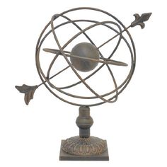 Add an artful touch to your living room or home library with this captivating metal decor, showcasing an armillary silhouette.   Product...