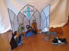 Stained Glass Nativity Scene - commissioned work