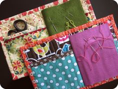 Needle books made from the tutorial at Sew She Sew's. So cute and functional!