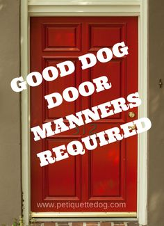7 Steps to get better behavior from your dog at the front door http://www.petiquettedog.com/dog-training-2/good-dog-door-manners/