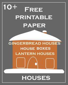 free printable DIY Christmas paper houses ♥ – free lantern houses, gingerbread houses, gift box houses, ornament houses