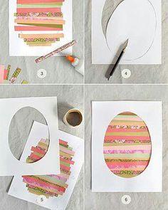 Easter egg cutout