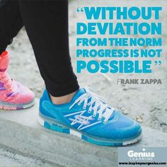 My learning over the past 4 months is that 'struggle' & 'deviation' are interlinked & may well hold a vital key to a Better Normal! #thinkitfeelitdoit Frank Zappa, 4 Months, New Balance, The Past, Key, Learning, Sneakers, Tennis, Slippers