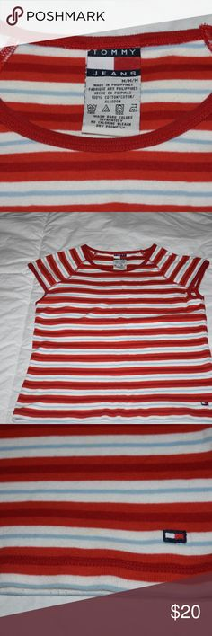 Vintage tommy hilfiger striped t shirt great condition. vibrant stripes Tommy Hilfiger Tops