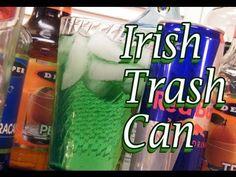 Irish Trash Can Recipe - St. Patricks Day Drinks |