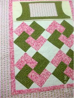 Sweet Lovie Lap Quilt with rose buds for sale by homesewnbycarolyn.