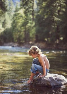 A River runs through childhood camping memories. Wilderness Campsites.