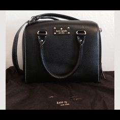 """♠️Kate Spade♠️ Gorgeous Kate Spade Wellesley Alessa black purse. Worn it a couple of times. Has lots of life left! Super chic and easy to-go purse. Great condition! No rips or stains. Comes with 20"""" strap and dust bag. Purse measurements are 12.5""""Lx10.5""""Hx4""""D. kate spade Bags Crossbody Bags"""