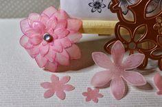 fleurs embosser sur papier calque
