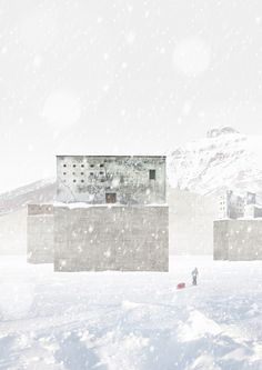 Chmel Architekti: Pyramiden Bay - 120 Hours 2015 Competition The Visitors, Archipelago, Heritage Site, In The Heights, Competition, Urban, Drawings, Outdoor, Outdoors