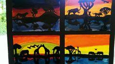 Jungle dieren in spiegelbeeld.