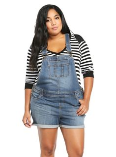 Plus Size Denim Overall Shorts Shortalls . Denim Overall Shorts, Plus Size Overall Shorts, Plus Size Pants, Plus Size Black Dresses, Plus Dresses, Plus Size Outfits, Short Dresses, Girlie Style, My Style