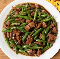 Casa Baluarte Filipino Recipes: Pork and Green Beans in Black Bean Sauce (Tausi) Pork And Green Beans Recipe, Pork And Peas Recipe, Black Bean Sauce Recipe, Pork N Beans, Green Bean Recipes, Filipino Vegetable Recipes, Easy Filipino Recipes, Filipino Food, Filipino Dishes