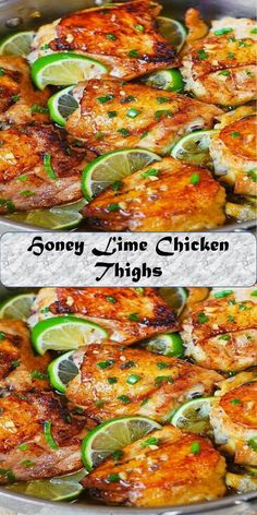Honey Lime Chicken Thighs #Honey #Lime #Chicken #Thighs Lime Chicken Thighs Recipe, Best Grilled Chicken Recipe, Lime Chicken Tacos, Lime Chicken Recipes, Honey Lime Chicken, Cilantro Chicken, Glazed Chicken, Chicken Thigh Recipes, Cilantro Recipes