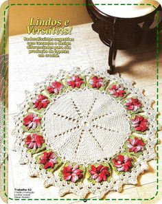 Round Doily Crochet Pattern with Flower Granny Squares. More Patterns Like This!