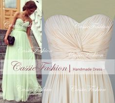 2014 Prom Dress, Strapless Sexy Chiffon Prom Gown,Party Dress,Bridesmaid Dress,Evening Dress,Formal Dresses on Etsy, $119.00