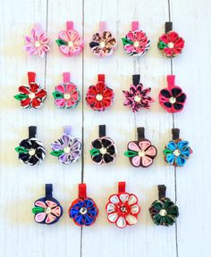 Kanzashi Flower Clips-Pick Your Pattern
