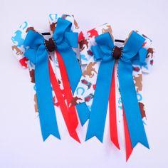 Teal Horses Equestrian - Pluff Bows Boutique Bows, Bow Ties, Equestrian, Hair Bows, Teal, Horses, Hairbows, Bowties, Horse
