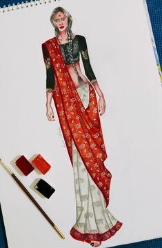 Fashion Illustration Tutorial, Dress Illustration, Fashion Illustration Dresses, Dress Design Drawing, Dress Design Sketches, Fashion Design Drawings, Fashion Model Sketch, Fashion Sketches, Fashion Designing Course