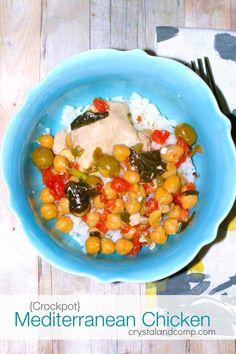 Crockpot Mediterranean Chicken. ☀CQ #crockpot #slowcooker