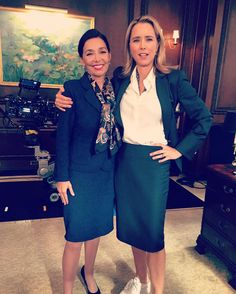 """Guest starring on Madam Secretary with the lovely and talented Téa Leoni. The show is absolutely top notch and current on geopolitics. It's actually instructive! Deep political discussions fill the set on and off camera. Smart show. Can't hint at the plot on this one except to say that I play the French Minister of Foreign Affairs and I am tough as nails with diplomacy. Such a nice cast and crew!"" (x)"