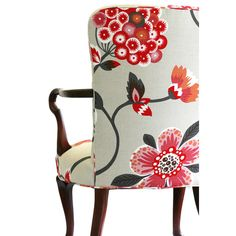 Upholstered Floral Armchair ($1,800) ❤ liked on Polyvore featuring home, furniture, chairs and accent chairs