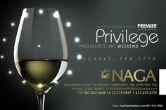 NAGA presents ..:: PRIVILEGE ::..     Join us for another long weekend celebration to commemorate the   past and present presidents of the good ole US of A!    ✔ 500+ A-list clientele  ✔ HIP HOP | TOP 40 | R | REGGAE   ✔ Feel privileged to be an American!!!     Naga Night Club 450 Massachusetts Ave. Cambridge, MA 02140 Tables/Info - Bottle Specials available, contact jason@nagacambridge.com or 857 991 7164 Website: nagacambridge.com Like us on Facebook: Naga Follow us on Twitter…