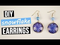 This time we've prepared for you amazing tutorial on DIY glass earrings making.  Our bijouterie will become an unusual  jewelry or a cute gift for your close friend! #diyearrings #snowflake #handmadebijouterie