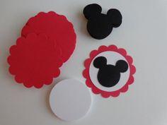 20 DIY Die Cut Mickey Mouse Birthday Tags Mickey by thingsbyjuju, $5.00