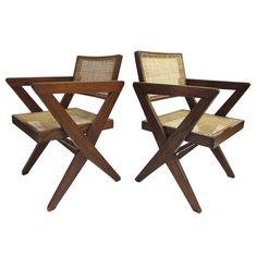 Pierre Jeanneret COA Armchairs from Chandigarh